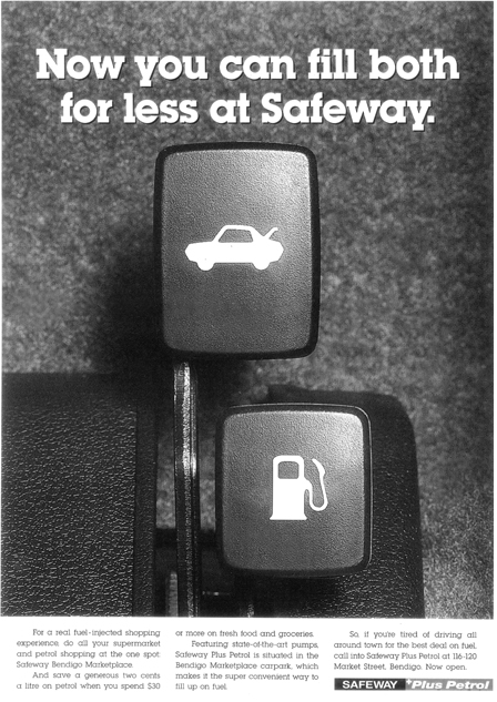 Safeway Plus Petrol press
